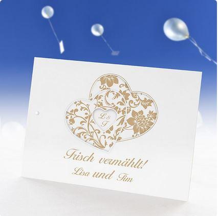 Ballonflugkarten, Hochzeitsideen