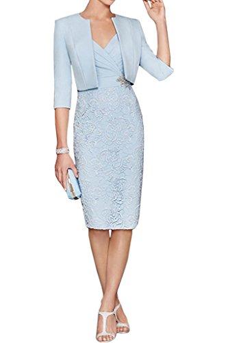 Kleid knielang hellblau