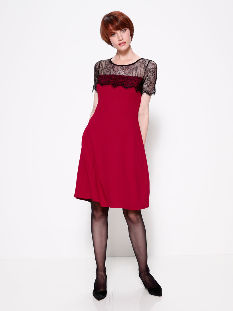 sale uk order first rate Kleid AMY VERMONT rot/schwarz